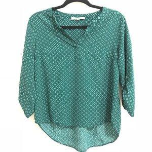 DANIEL RAINN green 3/4 sleeves button down blouse